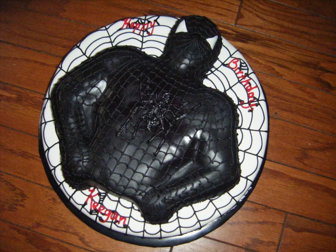 Black spiderman cakes - photo#7