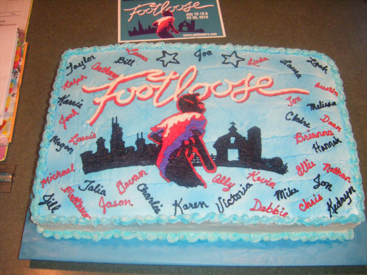 Footloose Cake